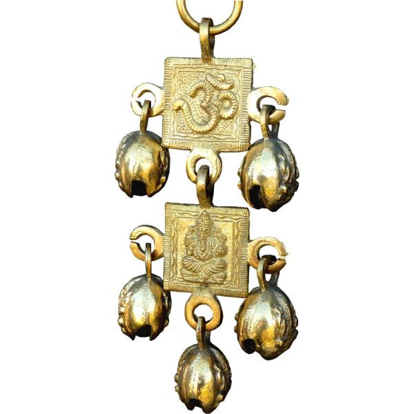 Mobile bronze doré Ganesh et Om