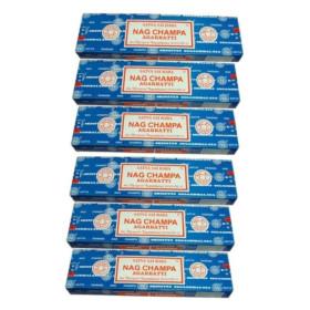pack 6 boites Nag champa satya encens batons 100 gr