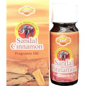 Flacon d'huile parfumée santal cannelle