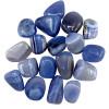 Calcédoine bleue pierre roulée 3 - 4,5cm