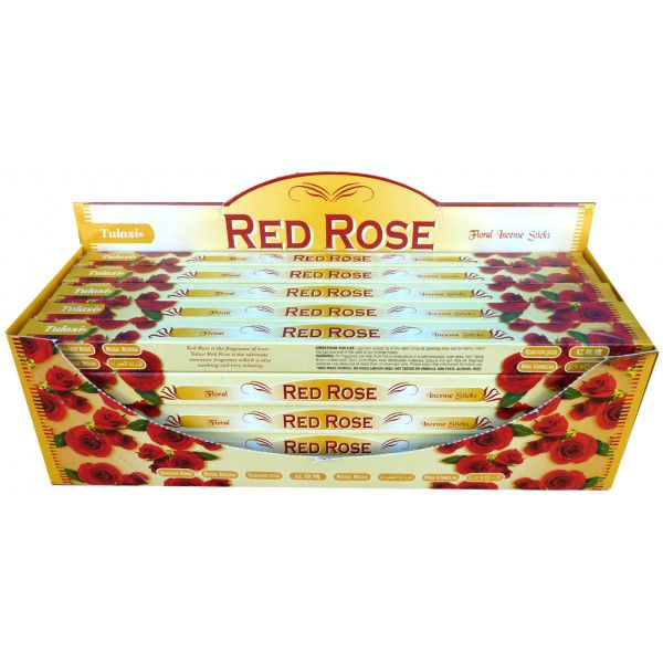 Encens bâtons tulasi rose rouge 10 gr
