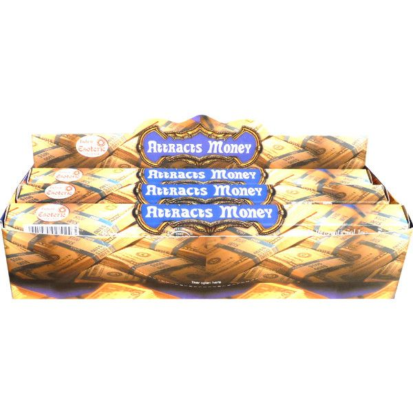 Boite d'encens tulasi attire argent 20 gr