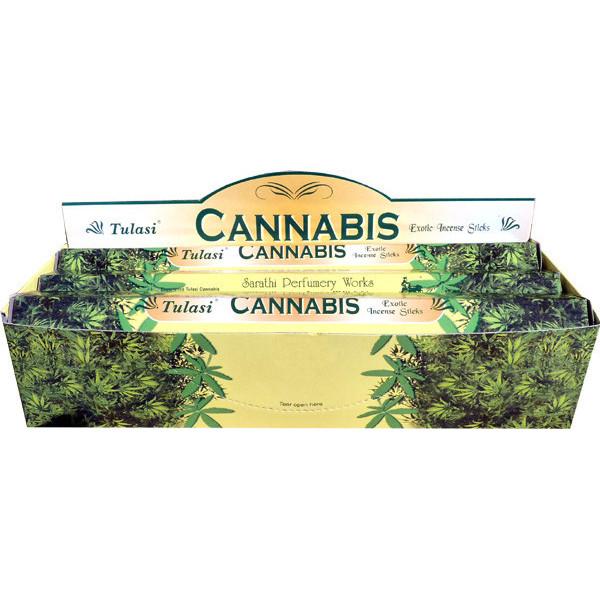 Schachtel Weihrauch Tulasi Cannabis 20 gr