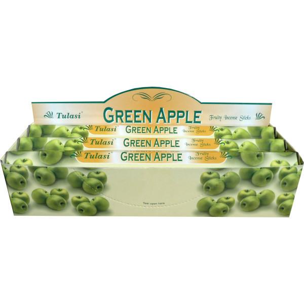 Schachtel Weihrauch Tulasi grüner Apfel 20 gr