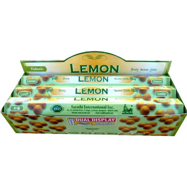 Schachtel Weihrauch Tulasi Zitrone 20 gr