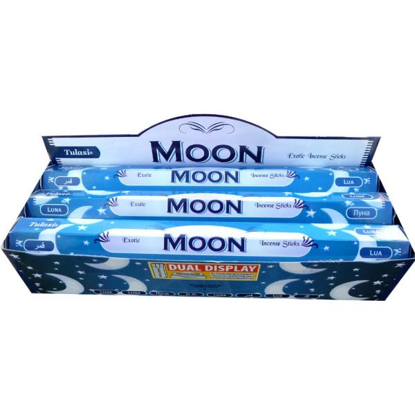 Boite d'encens Tulasi moon, lune 20 gr
