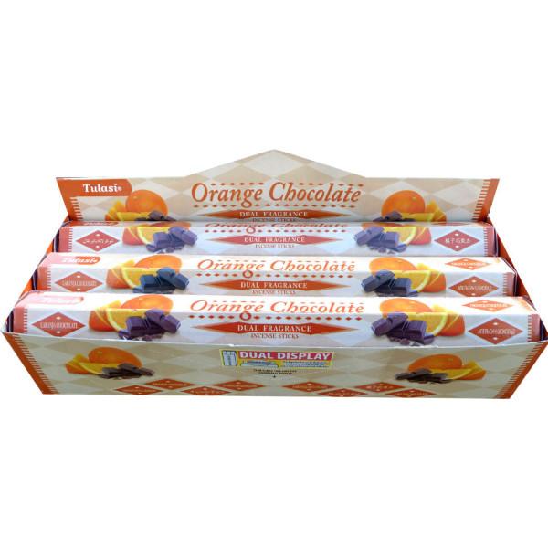 Boite d'encens Tulasi orange chocolat 20 gr