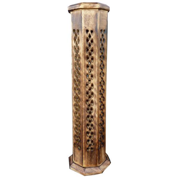 Weihrauchhalter großer gemeißelter antiker achteckiger Turm