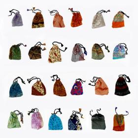 Bourse en coton pour pierres ou pendule