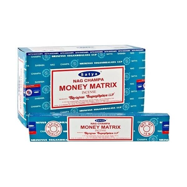 Encens batons satya money matrix 15 g