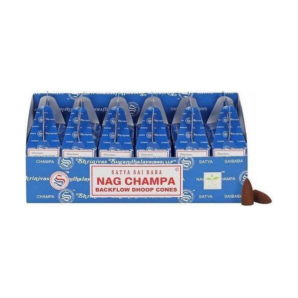 Backflow cônes nag champa encens satya