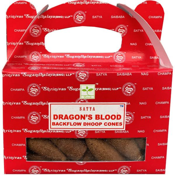 Backflow cônes sang de dragon encens satya