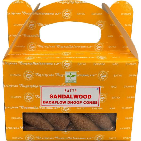 Backflow cônes bois de santal encens satya