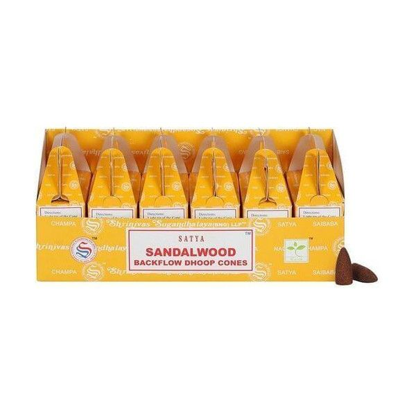 Backflow cônes bois de santal encens satya lot de 6