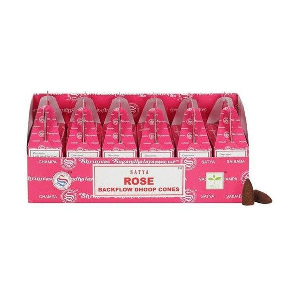 Backflow cônes rose encens satya lot de 6