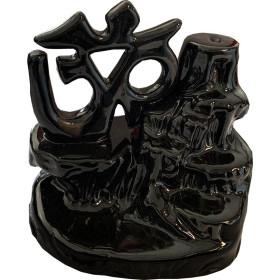 Om Keramik Bakcflow Weihrauchhalter