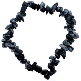 Snowy Obsidian Armband