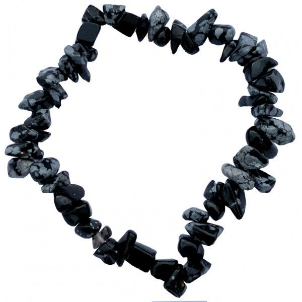 Bracelet obsidienne neigeuse