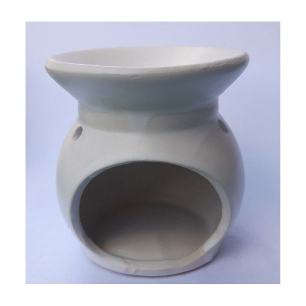 Brûle huile signe ying yang blanc
