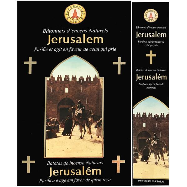 Encens bâtons fragrance & sens Jérusalem 15 gr