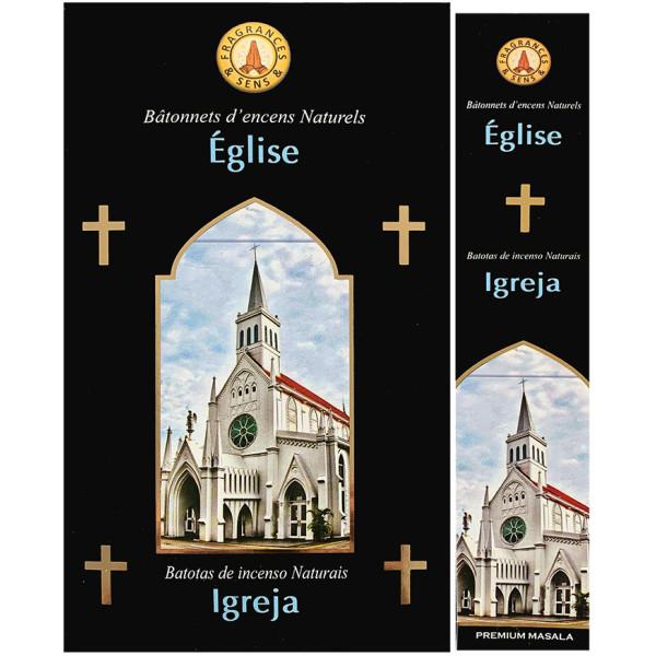 Encens bâtons fragrance & sens Eglise 15 gr