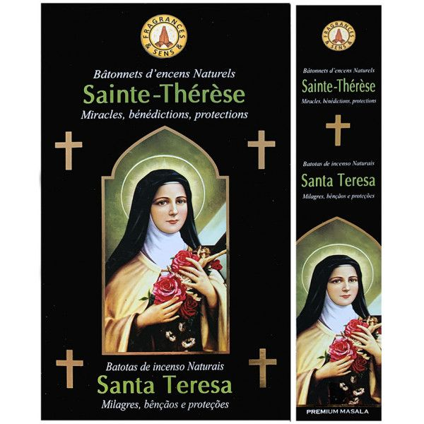 Encens bâtons fragrance & sens Sainte Thérèse 15 gr