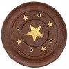 Porte encens bâtons en bois et laiton motif étoile