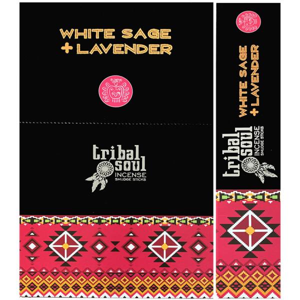 Encens Bâtons Tribal Soul sauge blanche & lavande