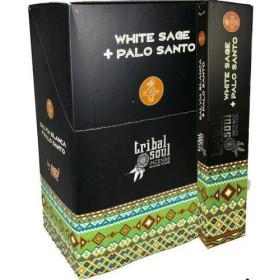 Encens Bâtons Tribal Soul sauge blanche & palo santo