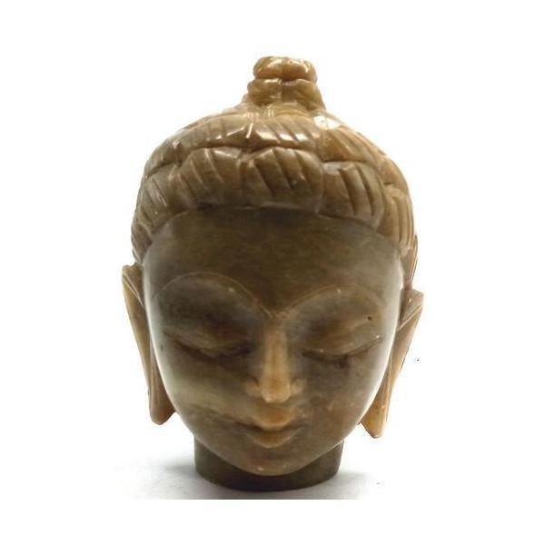 Statue en pierre tête bouddha
