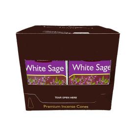 Cônes d'encens Tulasi sauge blanche