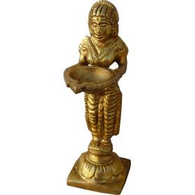 Nag Kanya Deepak bougeoir Bronze 13cm