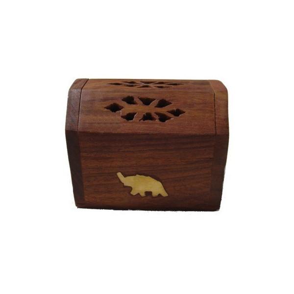 Porte encens cône boite motif éléphant