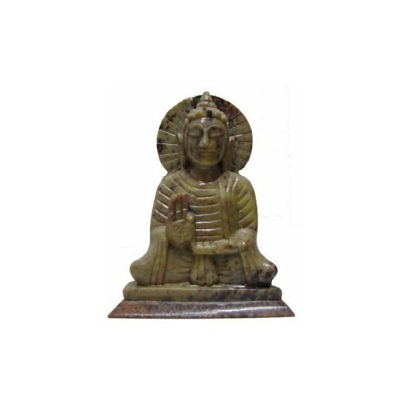 Statue bouddha en pierre.