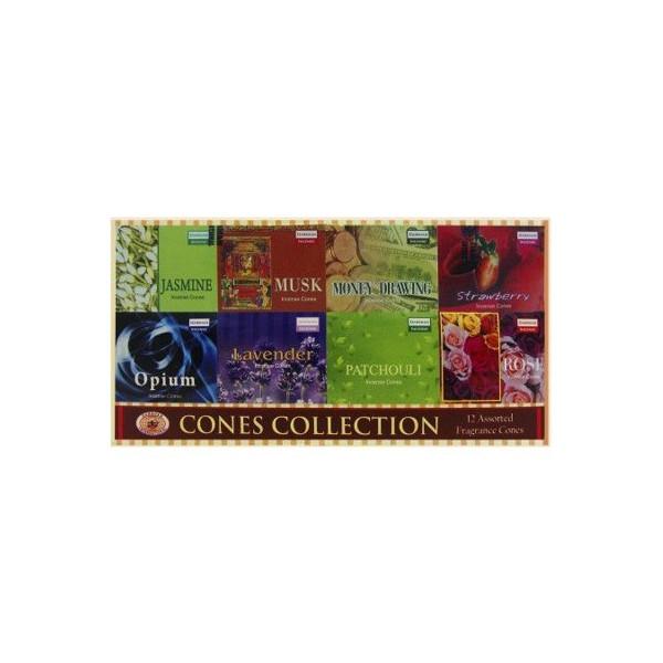 Pack de 12 boites de cônes d'encens darshan.