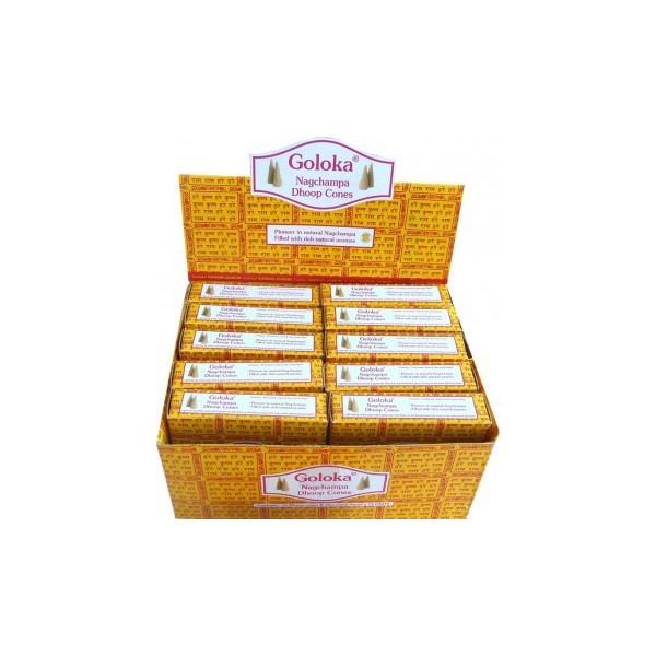 Schachtel mit Goloka-Zapfen.