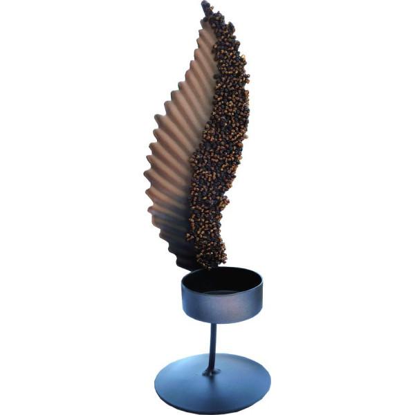 Bougeoir décoratif motif plume.